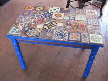 ceramic tile kitchen table made mexican tile top table w lizard inlaid i 5201