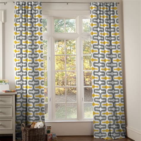 geometric yellow curtains rooms
