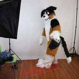 Yellow Dog Husky Mascot Costume For