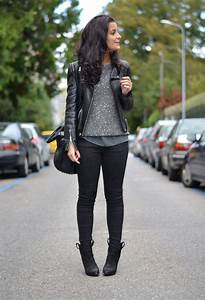 Black + grey + leather jacket | O u t F i t s | Pinterest