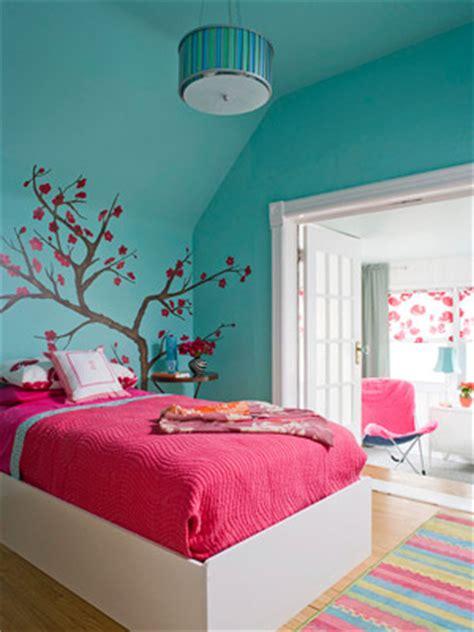 bold aqua  pink bedroom pictures   images