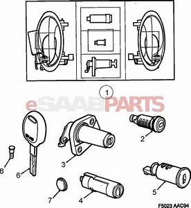8960221 saab lock cylinder genuine saab parts from With saab key diagram