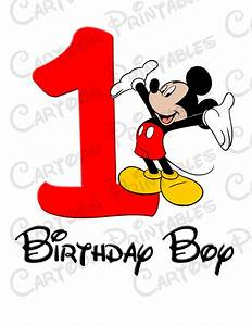 Mickey Mouse First Birthday Boy IMAGE Printable Clip Art ...