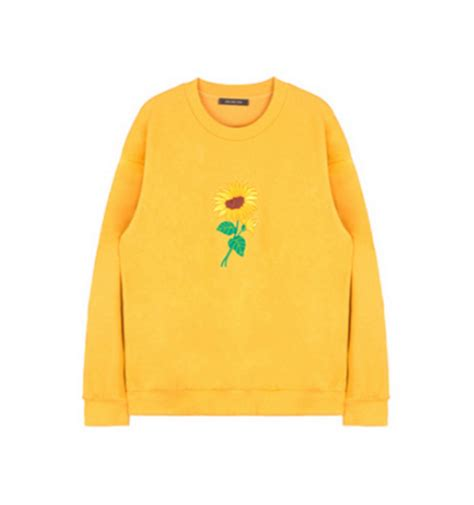 Embroidered Sunflower Sweater