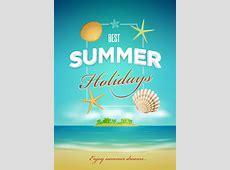 Summer Poster Design Template Stock Vector Illustration
