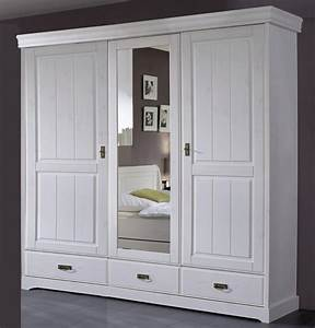 Massivholz Kleiderschrank Weiß : kleiderschrank 192x217x62cm 2 holzt ren 1 spiegelt r 2 ~ Lateststills.com Haus und Dekorationen