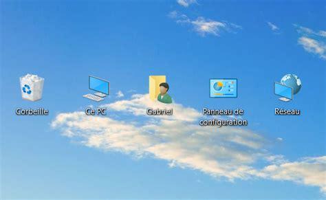 mettre icone sur le bureau icones bureau 100 images windows 10 taille des icônes