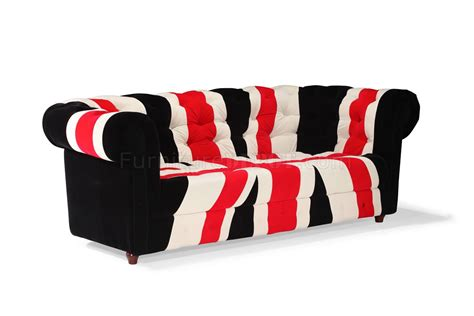 Union Jack Fabric Modern Sofa Loveseat Set Woptions