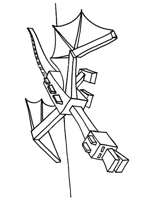 minecraft ender dragon coloring page  printable coloring pages  kids