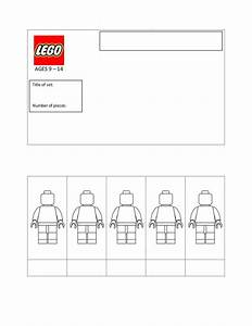 lego packaging template With lego figure template