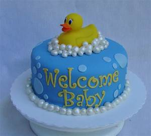 Duck Baby Shower Cake - CakeCentral com