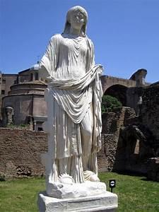A Vestal Virgin, Roman statue (marble), 3rd-4th century AD ...