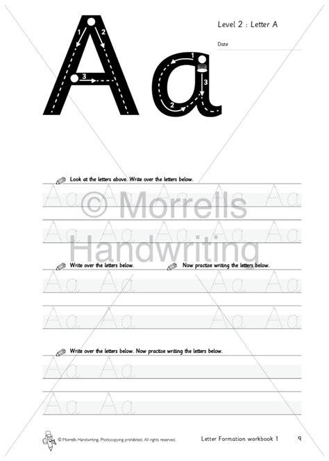 morrells letter formation  alphabet morrells handwriting