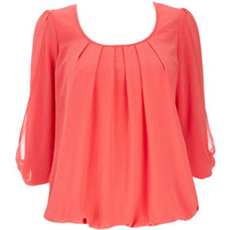 coral blouses and tops coral blouse wallis polyvore