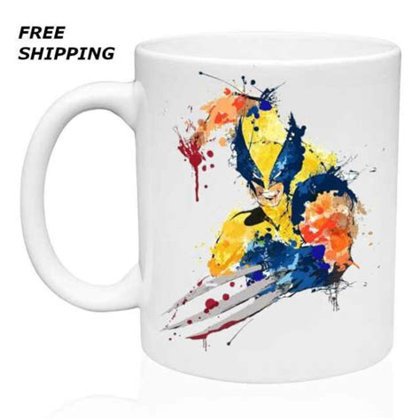 When exposed to warm liquid, this normally black mug becomes blue and reveals an illuminated version of the aforementioned mutant! Art Wolverine, X Men, Coffee-Tea Mug 11oz for sale