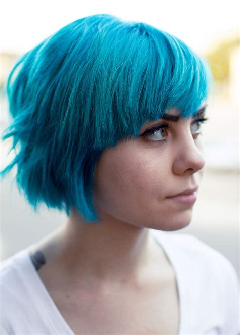 Pretty Blue Hair Short Blue Hair Short Hair Color