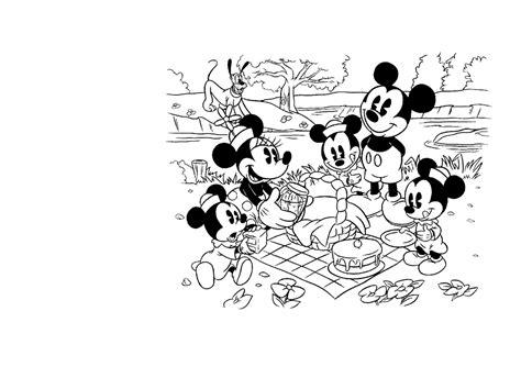 Kleurplaat Jezus Vrienden by Kleuren Nu Mickey En Zijn Vrienden Picknick Kleurplaten