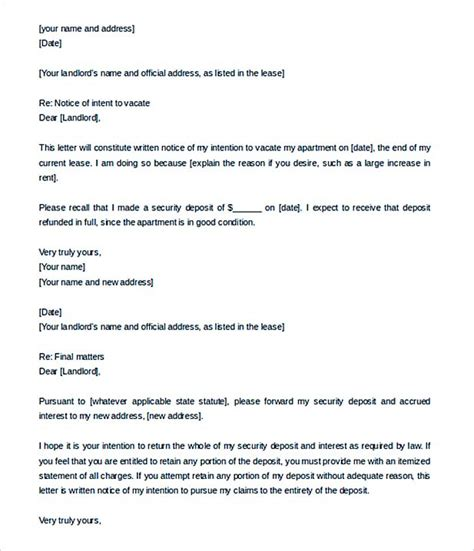 Landlord End Of Tenancy Letter Template by 9 Lease Termination Letter Template