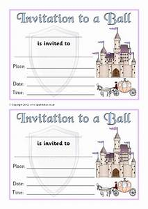 invitation writing frames and printable page borders ks1 With cinderella invitation to the ball template