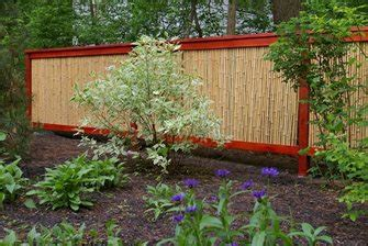 bamboo rolled fencing landscaping network