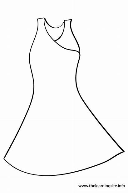 Coloring Pages Outline Dresses Clothes Printable Template