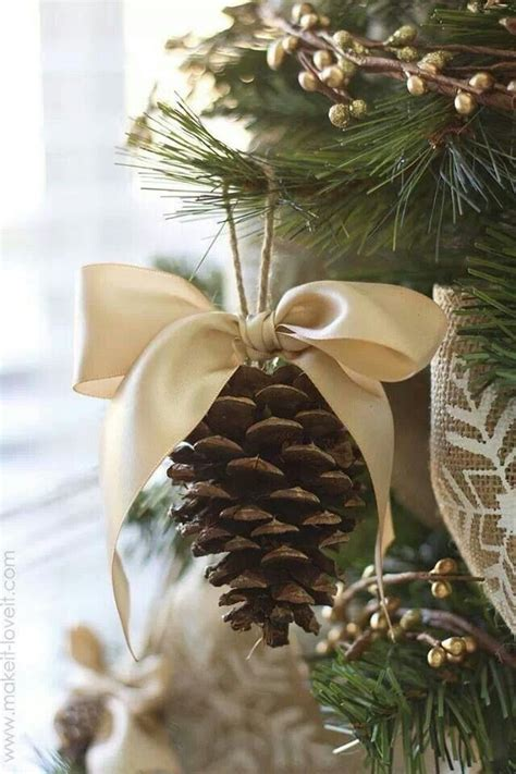 pine cone ornaments christmas christmas pinterest