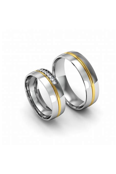 modern yellow white gold wedding ring