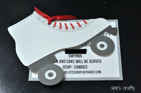 roller skating birthday invitation  template