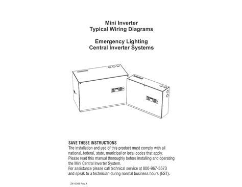 Lighting Inverter Wiring Diagram by Mini Inverter Typical Wiring Diagrams Emergency Lighting