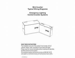 Mini Inverter Typical Wiring Diagrams Emergency Lighting