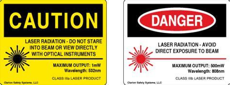 laser light warning label laser safety label standards clarion safety systems