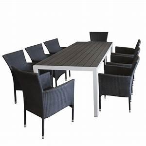 Gartenmöbel Set Grau : gartenm bel set aluminium gartentisch mit robuster polywoodtischplatte grau in holzoptik ~ Orissabook.com Haus und Dekorationen