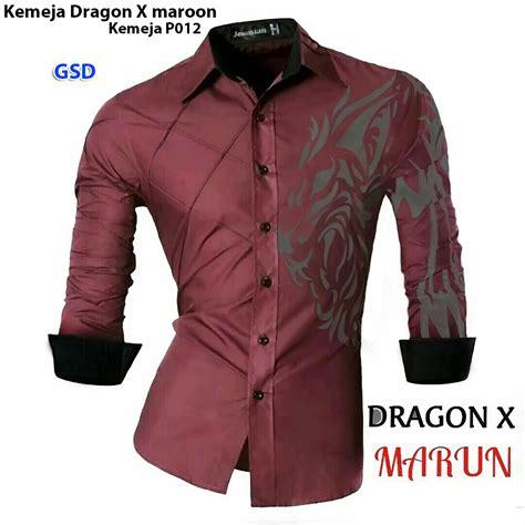 kemeja maroon kmja p012 grosir tanah abang baju