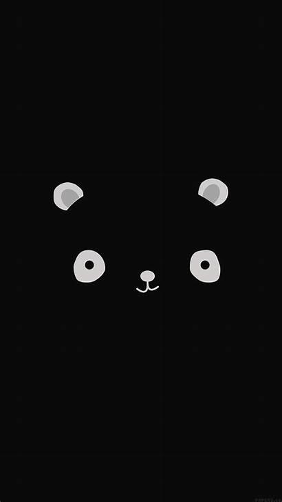 Panda Dark Wallpapers Background Iphone Minimal Anime
