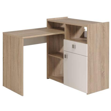 bureau bois brut bureau enfant en bois chêne brut et blanc megève terre