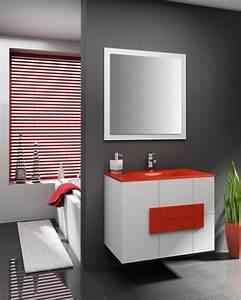 meuble vasque rouge With salle de bain design avec meuble vasque rouge