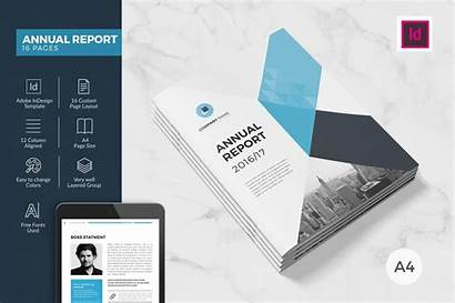 Annual Report Templates Indesign Pages Brochure Creative