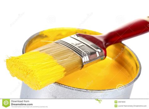 Open Can Of Yellow Paint And Brush Stock Photo  Image. French Country Island Kitchen. Kitchen Island Extractor Fan. Bar Chairs For Kitchen Island. How To Paint Kitchen Cabinets Antique White. Kitchen Towel Holder Ideas. Design For Small Kitchen. Small Apartment Kitchen Tables. White And Gray Kitchen Ideas