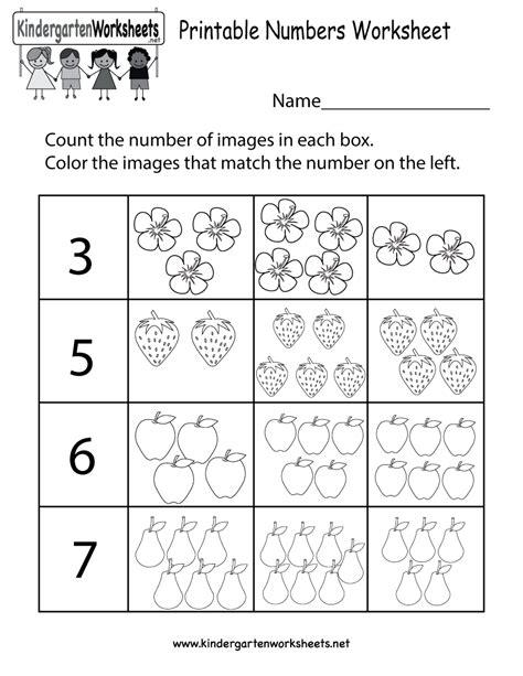 Free Printable Number Worksheets