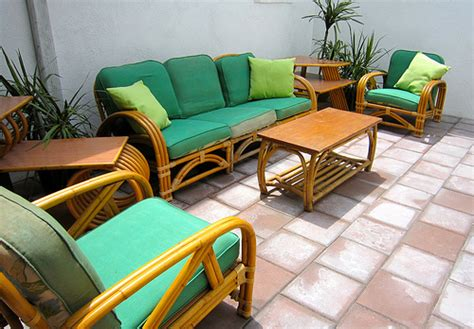 vintage rattan set a tiki tastic addition to the