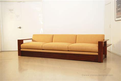 stunning wood frame sofa photograph