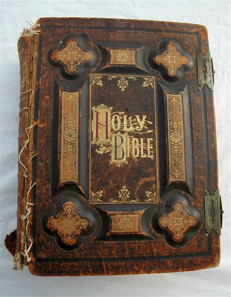Altes Leder Kaufen by Holy Bible Dated 1885 Antique Gold Lettering Leather An