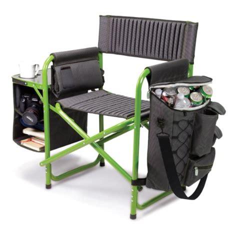 cheap picnic time fusion folding chair gray with lime