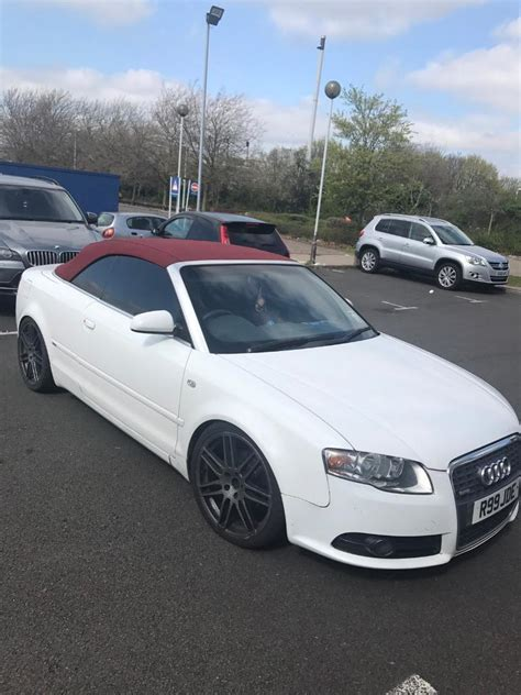 convertible audi red audi a4 convertible red white in syston leicestershire
