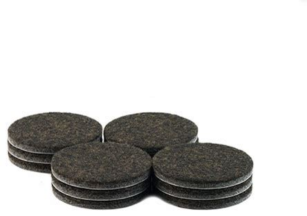 2 quot diameter heavy duty felt pads brown 12 piece