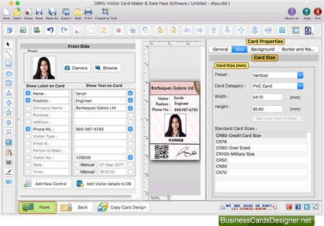 Mac Gate Pass Id Cards Maker Software Screenshots For Business Card Holder For Purse Salon Inspiration Golf Desk Mont Blanc Leather Icon Ai With Window Pocket Staples Smartphone