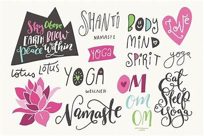 Yoga Lotus Phrases Clipart Flowers Graphics Objects
