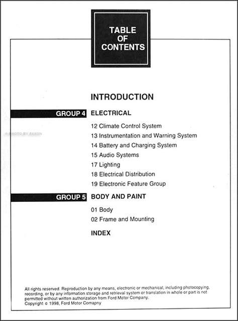 free auto repair manuals 1993 mercury villager electronic toll collection 1999 mercury villager repair shop manual original 2 volume set