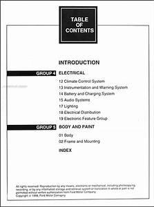 1999 Mercury Villager Repair Shop Manual Original 2 Volume Set