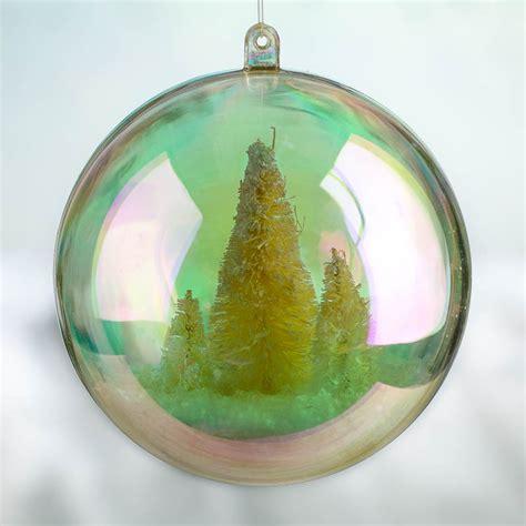 mm aurora borealis acrylic fillable ball ornament